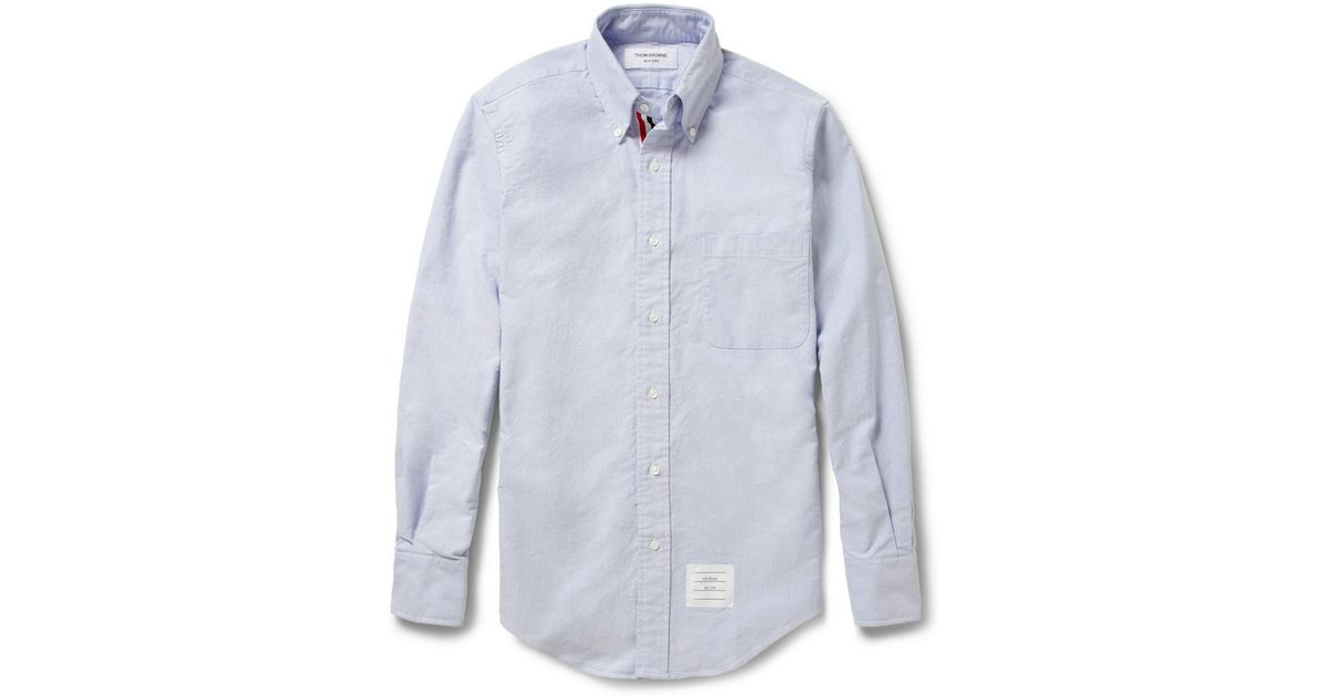 5853de05a11d Lyst - Thom Browne Button-Down Collar Oxford Shirt in Blue for Men