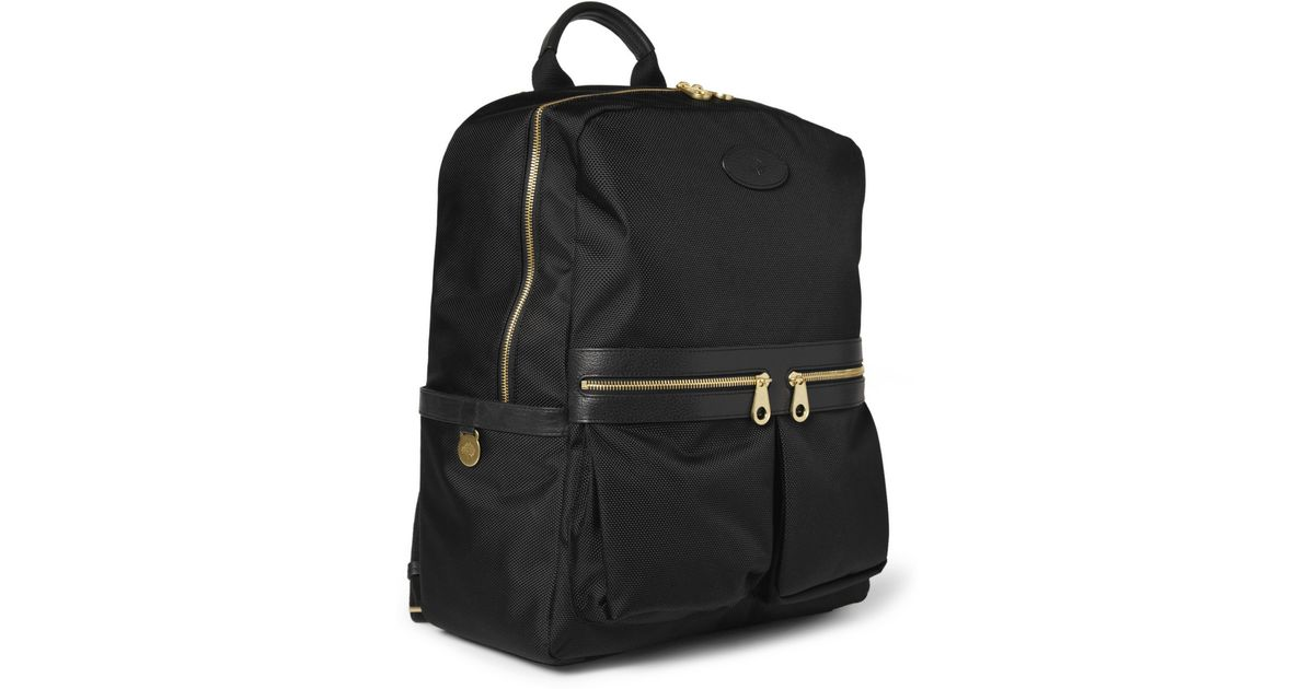 d5f23ec891 ... usa lyst mulberry henry leather trimmed nylon backpack in black for men  4db6b 733ea ...