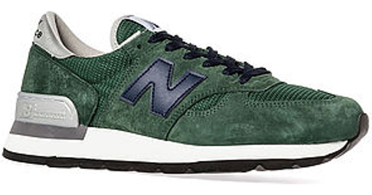 on sale 0cc62 1c710 Lyst - New Balance 410 Suede Wax Canvas Green Sneakers in Green