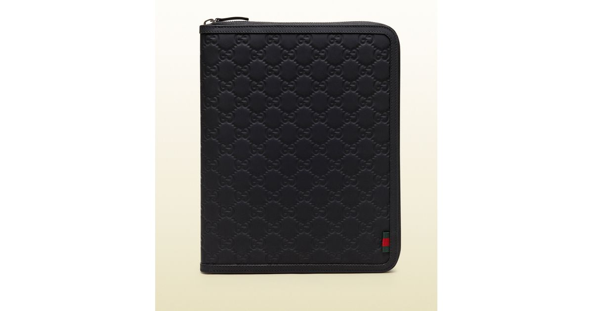 159b1f307d4b Lyst - Gucci Rubber Ssima Leather Ipad Case in Black for Men