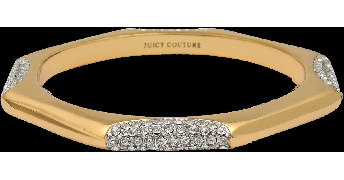 Juicy Couture Pave Station Octagon Bracelet in Metallic - Lyst