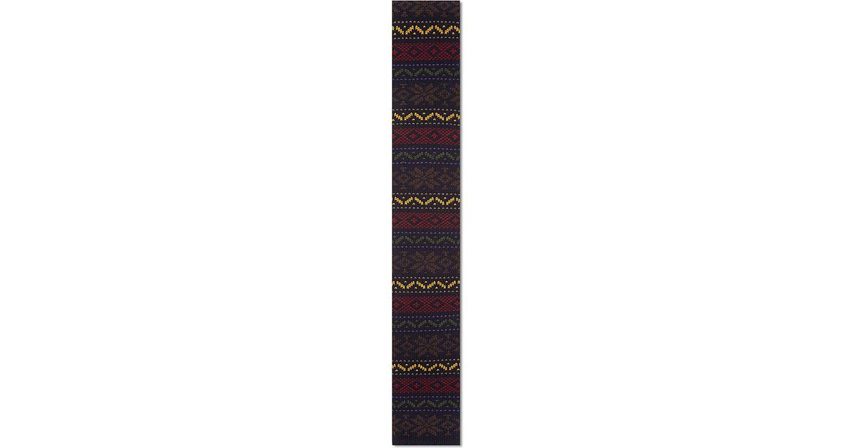 Drake's Fair Isle Knit Tie in Blue for Men | Lyst