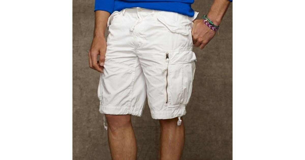 ccc8b60074 Polo Ralph Lauren Classic Fit Cargo Short in White for Men - Lyst