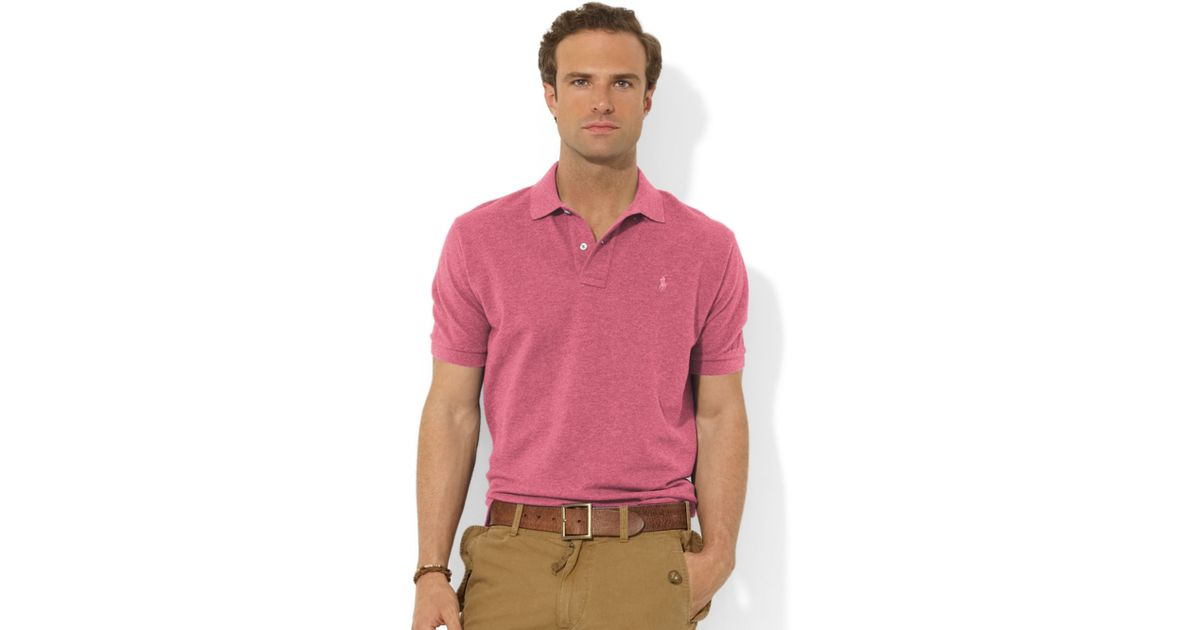... Polo Ralph Lauren Pink Green Breathable Short Sleeved ...