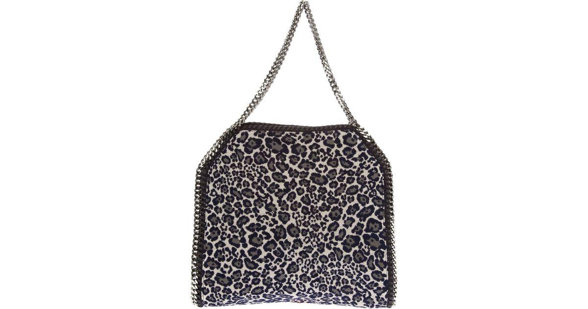 827f6707ac84 Lyst - Stella McCartney Leopard Print Falabella Tote Bag in Blue