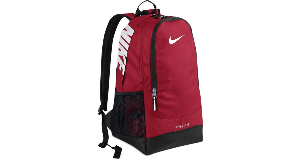 nike max air team training large backpack - gym red 1s