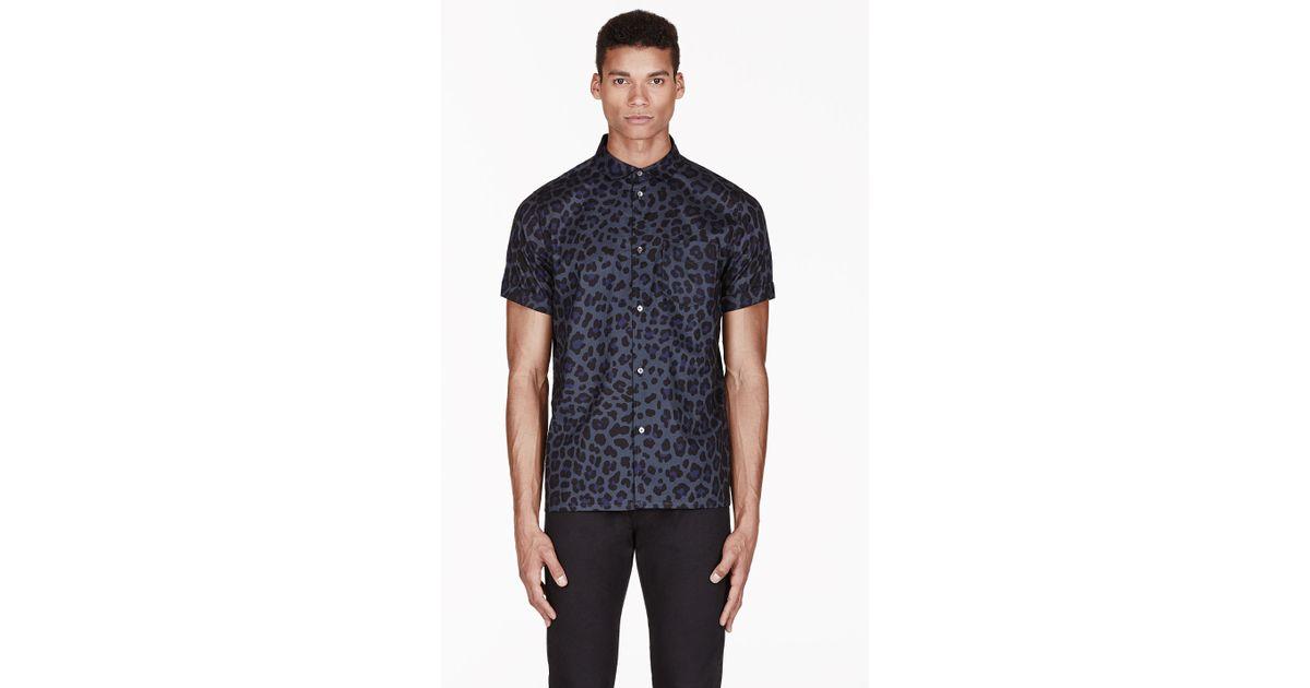 1afcb0de Marc By Marc Jacobs Blue London Leopard Print Shirt in Blue for Men - Lyst