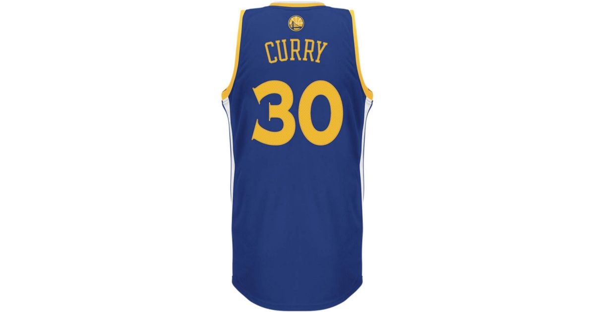 Lyst - adidas Mens Golden State Warriors Stephen Curry Jersey in Blue for  Men 5b7effe25