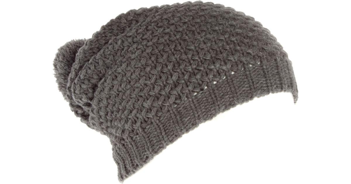 Lyst - ASOS Tuck Stitch Hat in Gray e5e52447939e