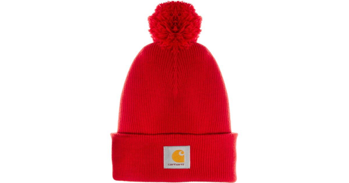 Lyst - Fjallraven Carhartt Bobble Watch Beanie Hat in Red for Men 0a9600cedc8f