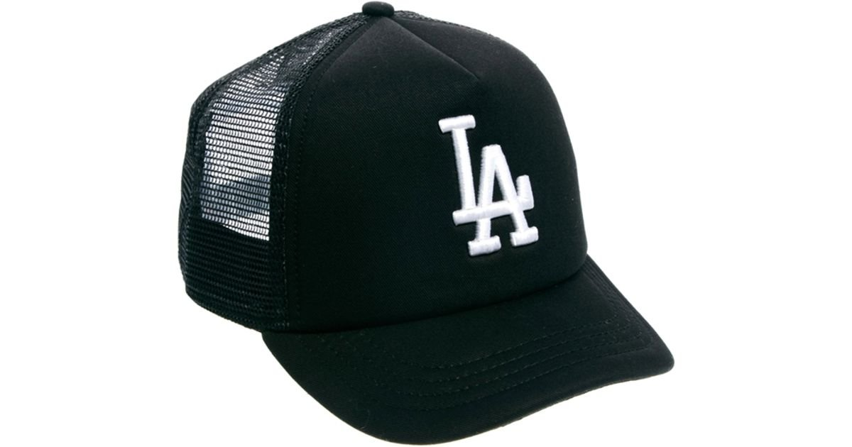3c87aa2962fe1 KTZ La Dodgers Trucker Snapback Cap in Green - Lyst