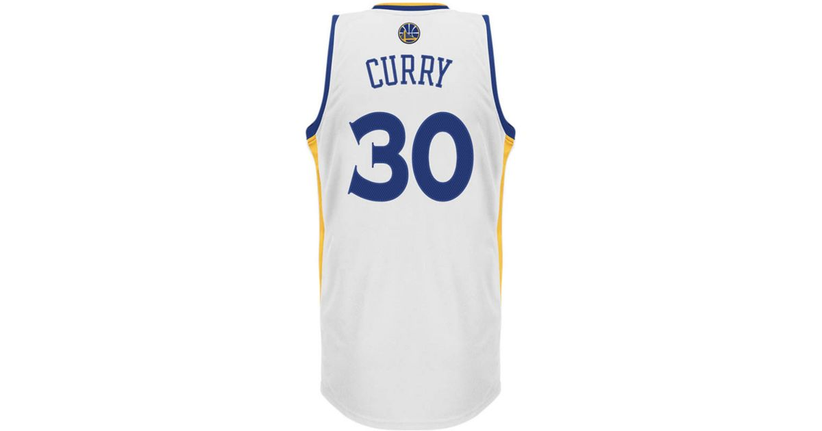 wholesale dealer 46bc0 48948 Adidas - White Mens Stephen Curry Golden State Warriors Swingman Jersey for  Men - Lyst