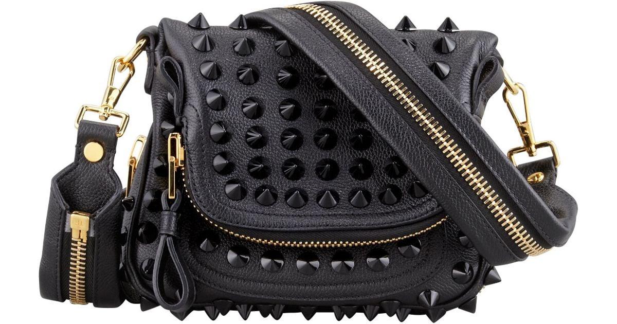 248072d49270 Lyst - Tom Ford Jennifer Studded Leather Mini Crossbody Bag in Black