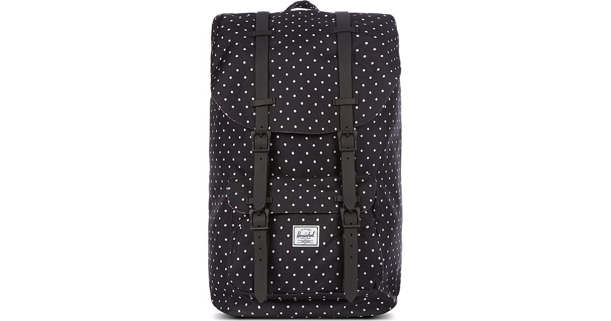 3455be73f79 Herschel Supply Co. Little America Polka-Dot Backpack in Black - Lyst