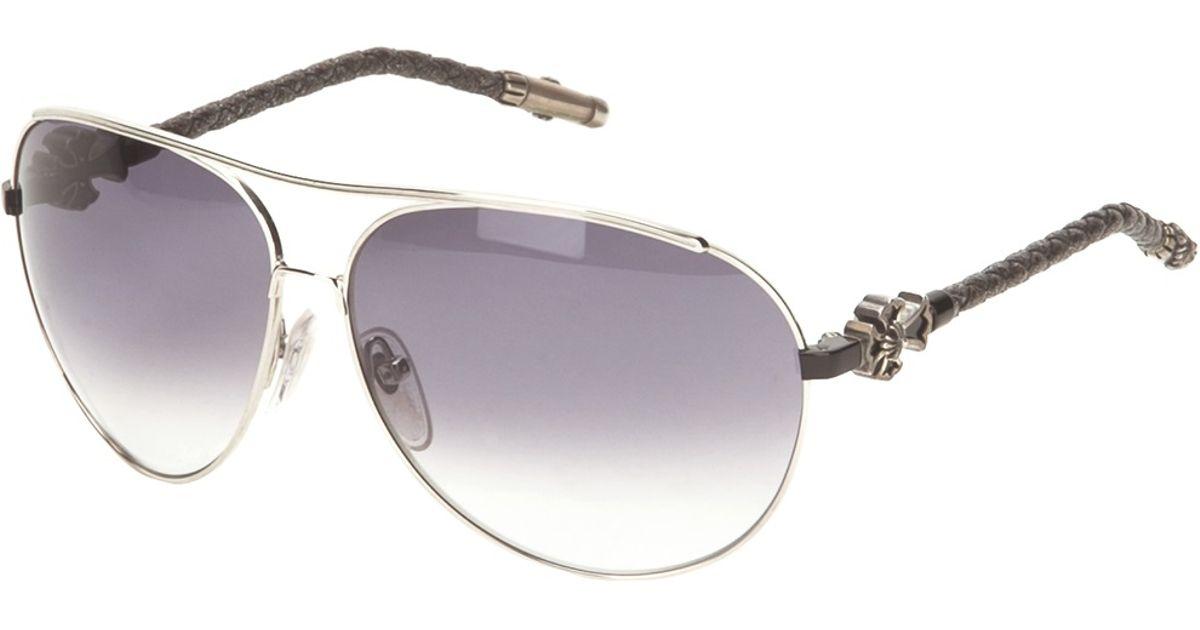 4c24d168f041b Chrome Hearts Aviator Sunglasses in Black for Men - Lyst