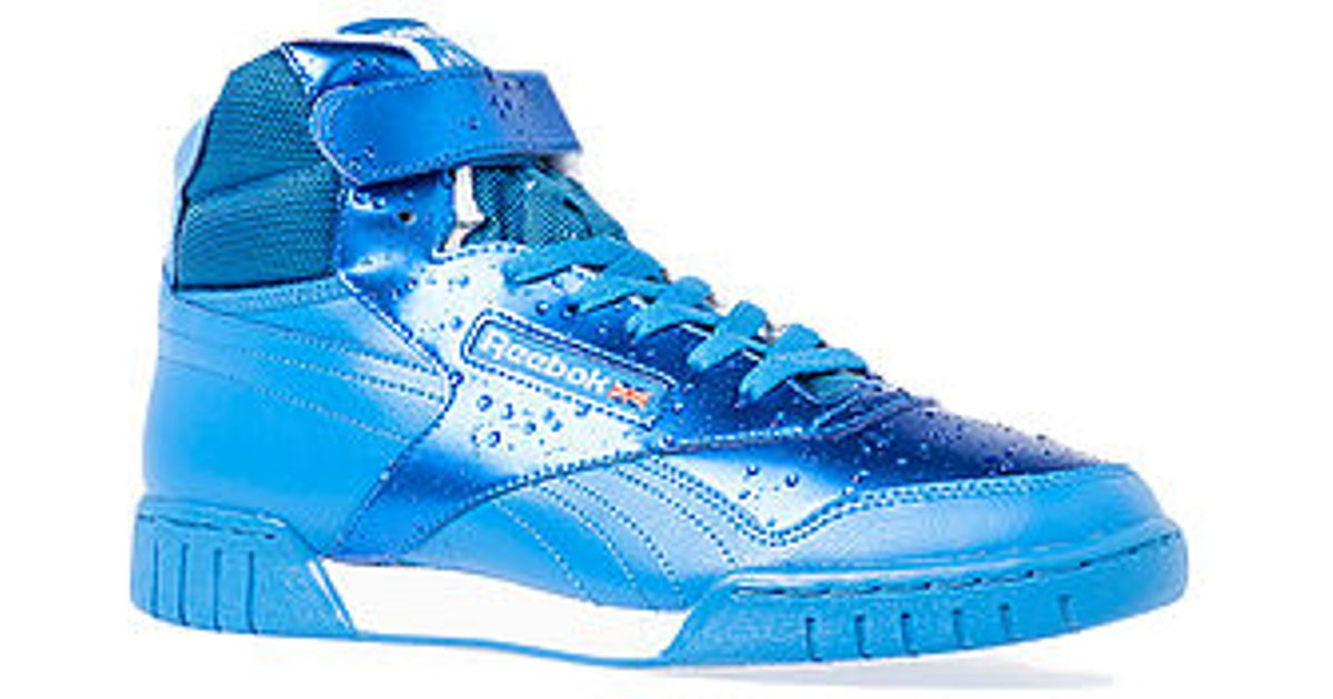 cheap for discount 53bcb bdbf0 Lyst - Reebok The Exofit Hi Plus Hi Sneaker in Blue for Men