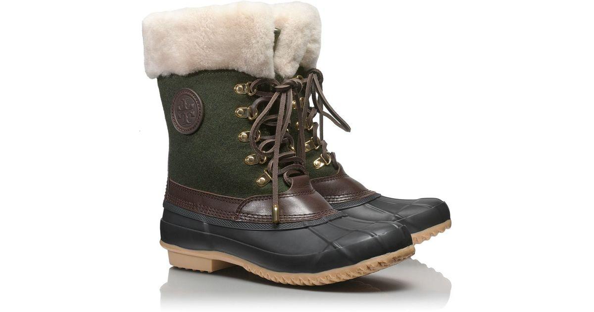 425dd060995f Lyst - Tory Burch Jada Mid Shaft Duck Boot in Black