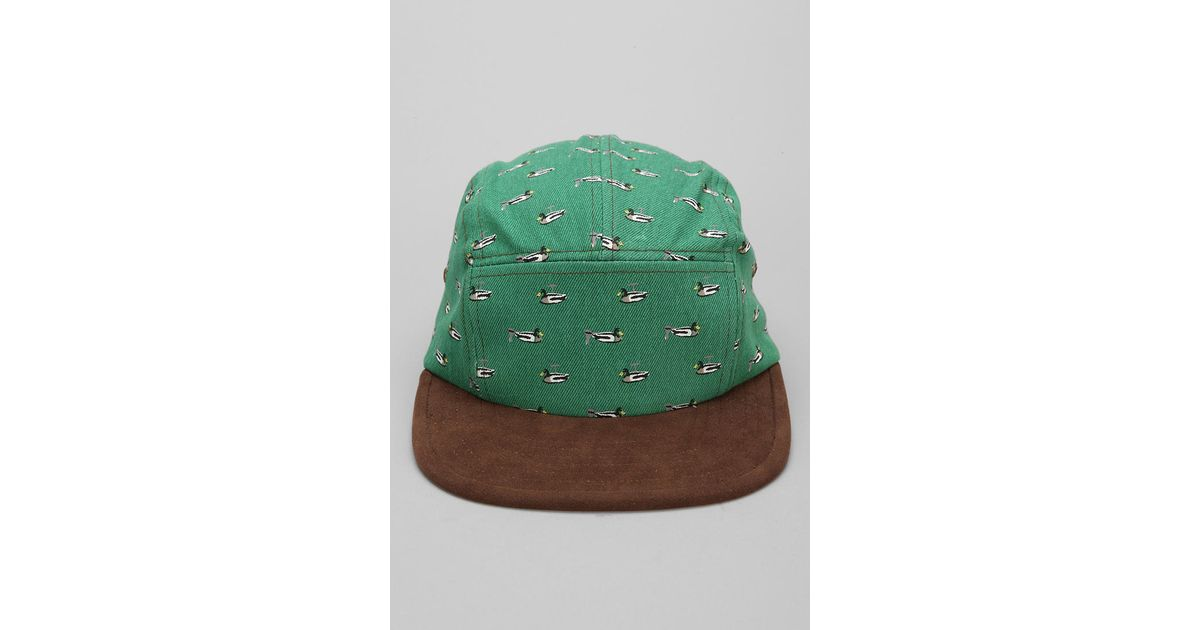Lyst - Urban Outfitters Rosin Mallard 5panel Hat in Green for Men 9f9427bb13c1