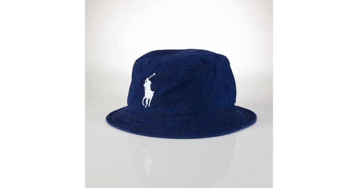 31974404c0e Lyst - Polo Ralph Lauren Beachside Bucket Hat in Blue for Men