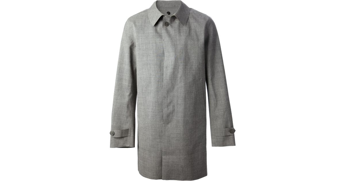 0f86c723f73 Herno Montgomery Trench Coat in Gray for Men - Lyst