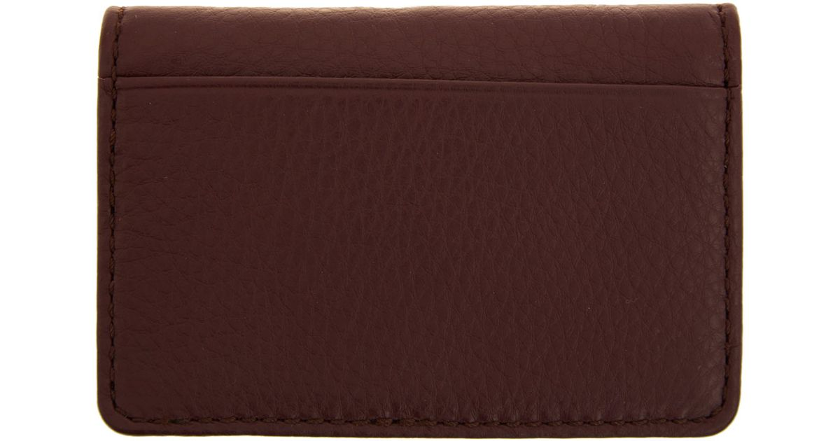 Lyst marc by marc jacobs burgundy classic q business card holder lyst marc by marc jacobs burgundy classic q business card holder in red for men colourmoves