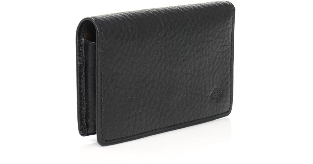 f194ad06b987 Lyst - Mulberry Leather Card Holder in Black for Men