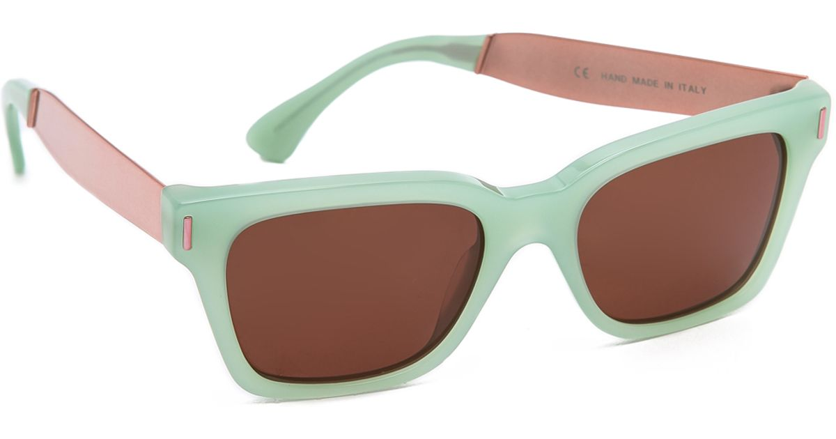f9f4240aa5b Retrosuperfuture America Francis Elsa Sunglasses - Green in Green - Lyst