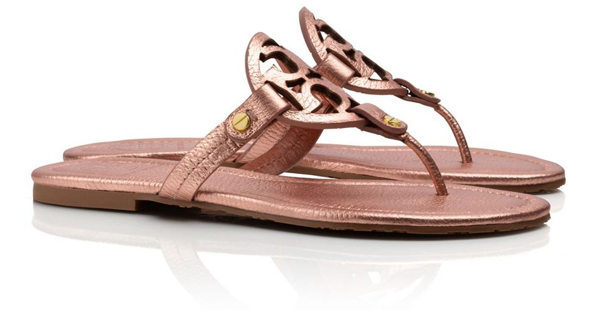 4c06a1cff83 Lyst - Tory Burch Miller Metallic Sandal in Pink