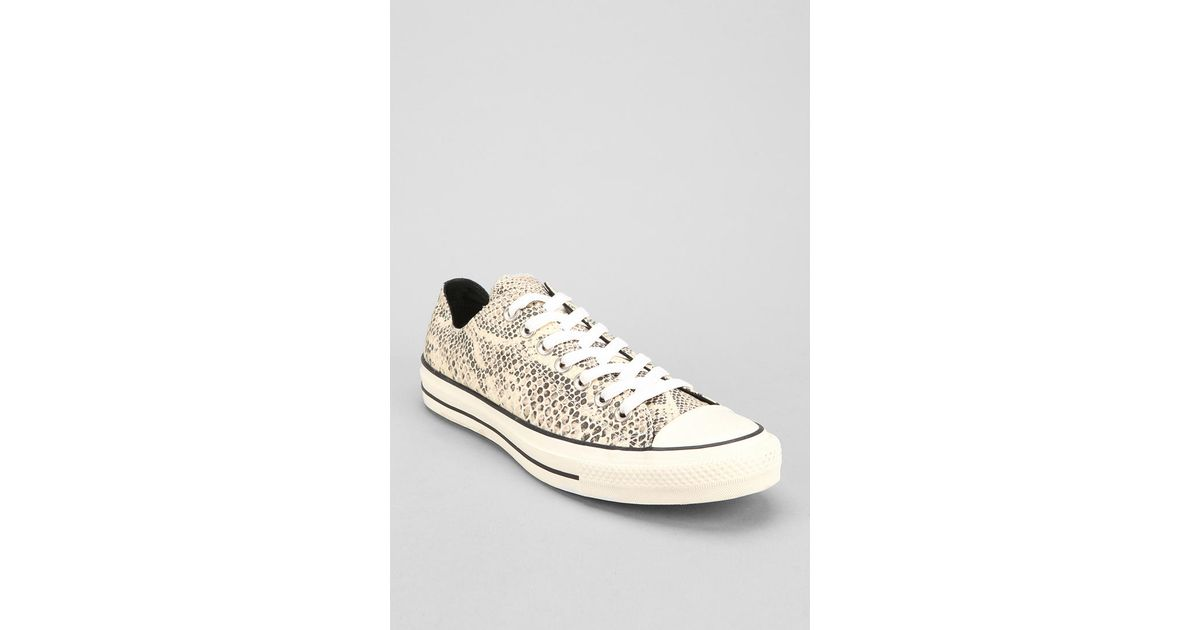 c0606e2c924a0 Urban Outfitters Converse Chuck Taylor All Star Snakeskin Mens Lowtop  Sneaker - Lyst