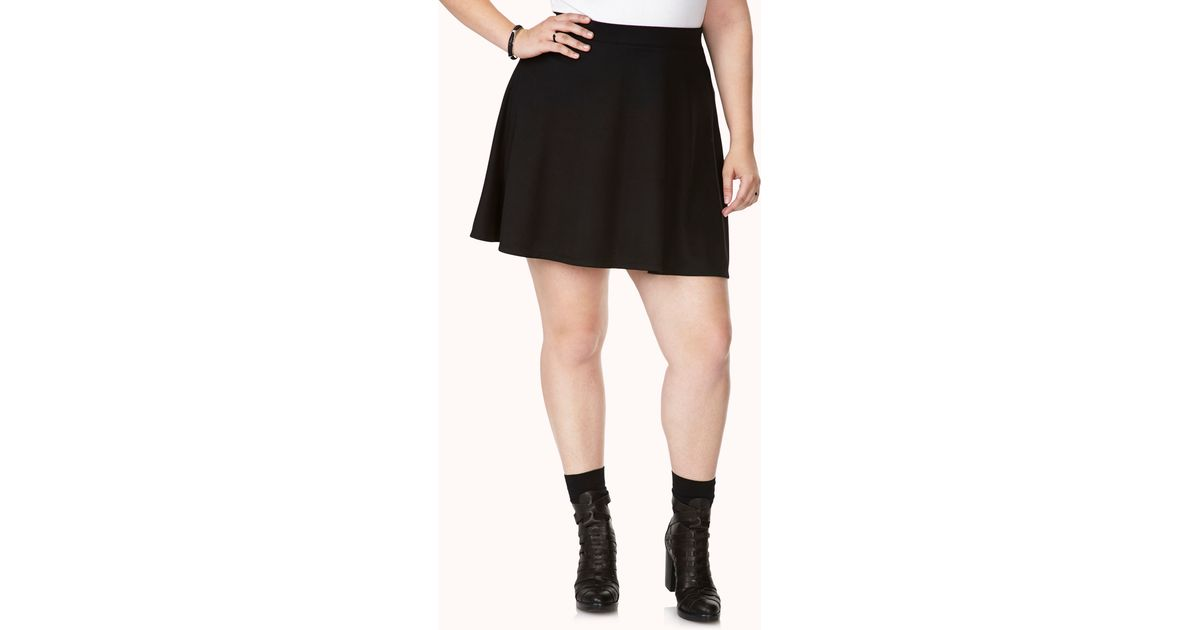 c3a9c351b Forever 21 Simply Stated Skater Skirt in Black - Lyst