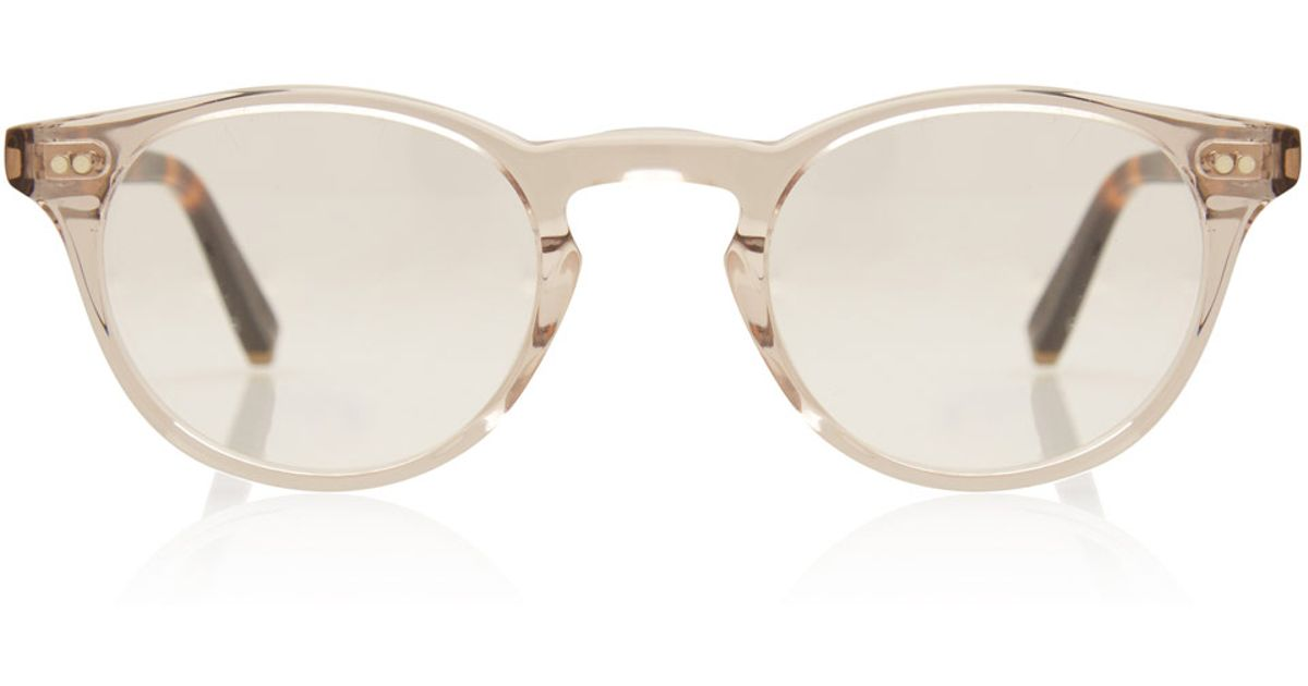 1a697cfa53 Lyst - Moscot Clear Frankie 45 Glasses in Gray for Men