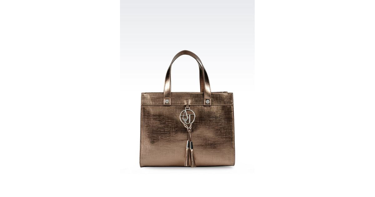 Lyst - Armani Jeans Bauletto Bag In Faux Saffiano With Tassels in Brown a310299ff5