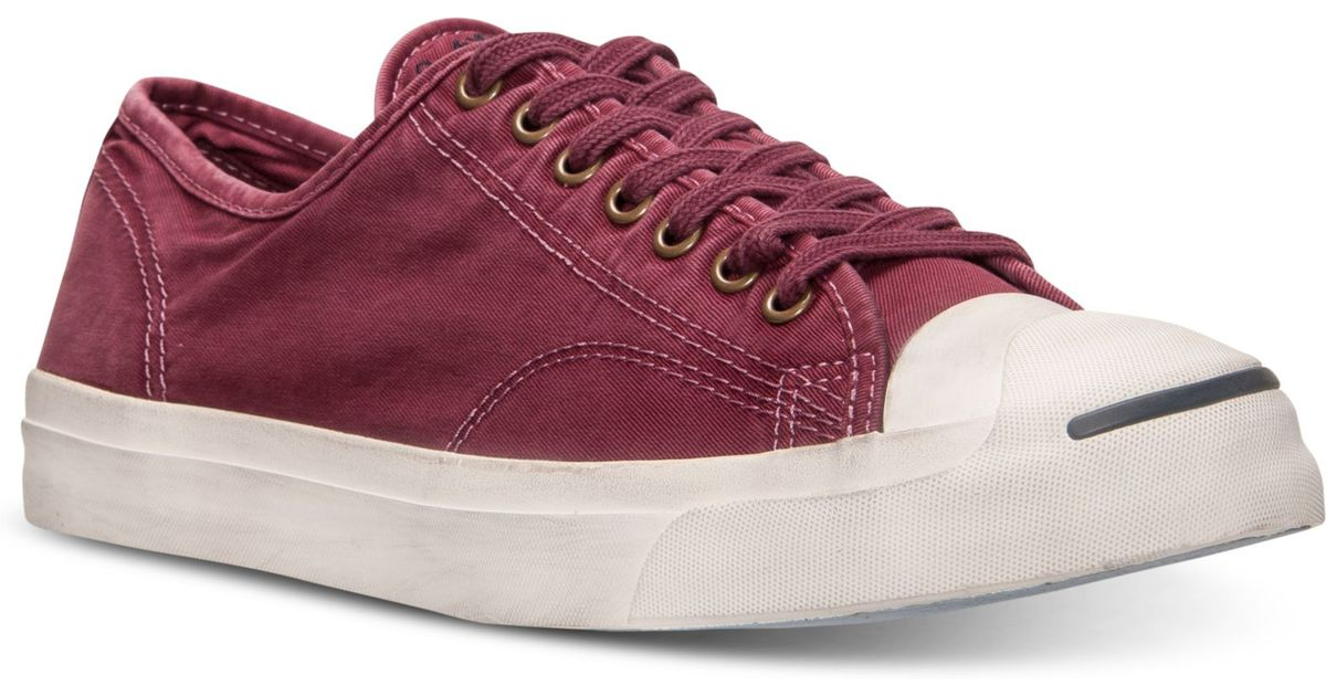 brand new d493c 9ea27 Lyst - Converse Mens Jack Purcell Ltt Casual Sneakers From Finish Line in  Red for Men