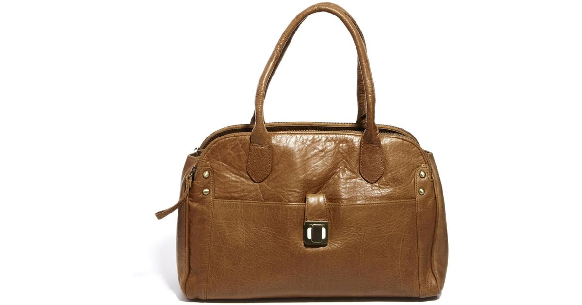 1bc9e75ad279 Lyst - Asos Oasis Leather Triple Compartment Shoulder Bag in Brown