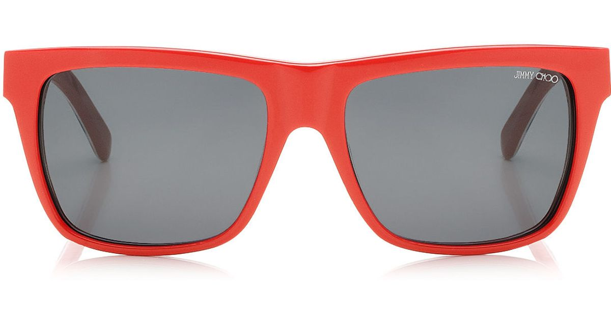 2f5de0bca52 Lyst - Jimmy Choo Alex Alex Sasha Alex Sunglasses in Red