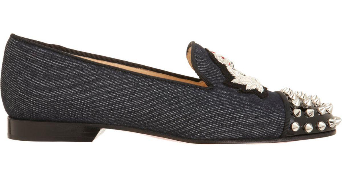 christian louboutin velvet cap-toe intern loafers