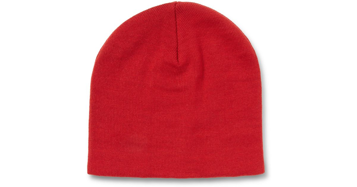 Red Wool Beanie Ami 2xFD4d
