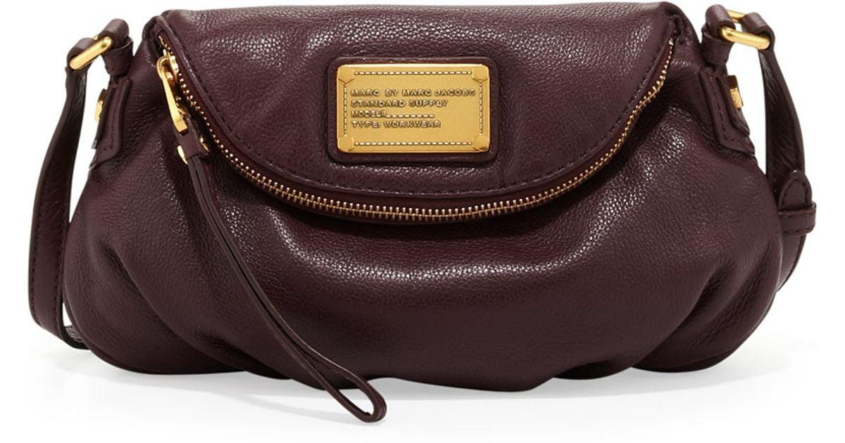 6168d4db967c Lyst - Marc By Marc Jacobs Classic Q Natasha Mini Crossbody Bag Cardamom  Brown in Brown