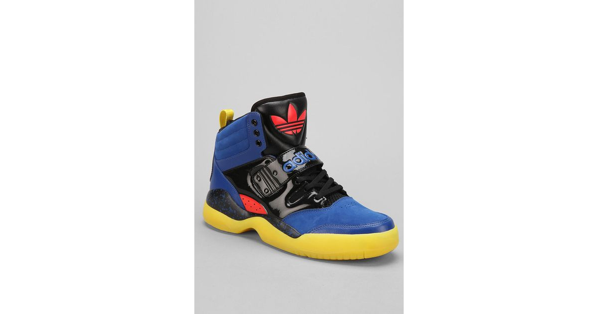 save off b0d56 1a601 Urban Outfitters Adidas Hackmore Hightop Sneaker in Blue for