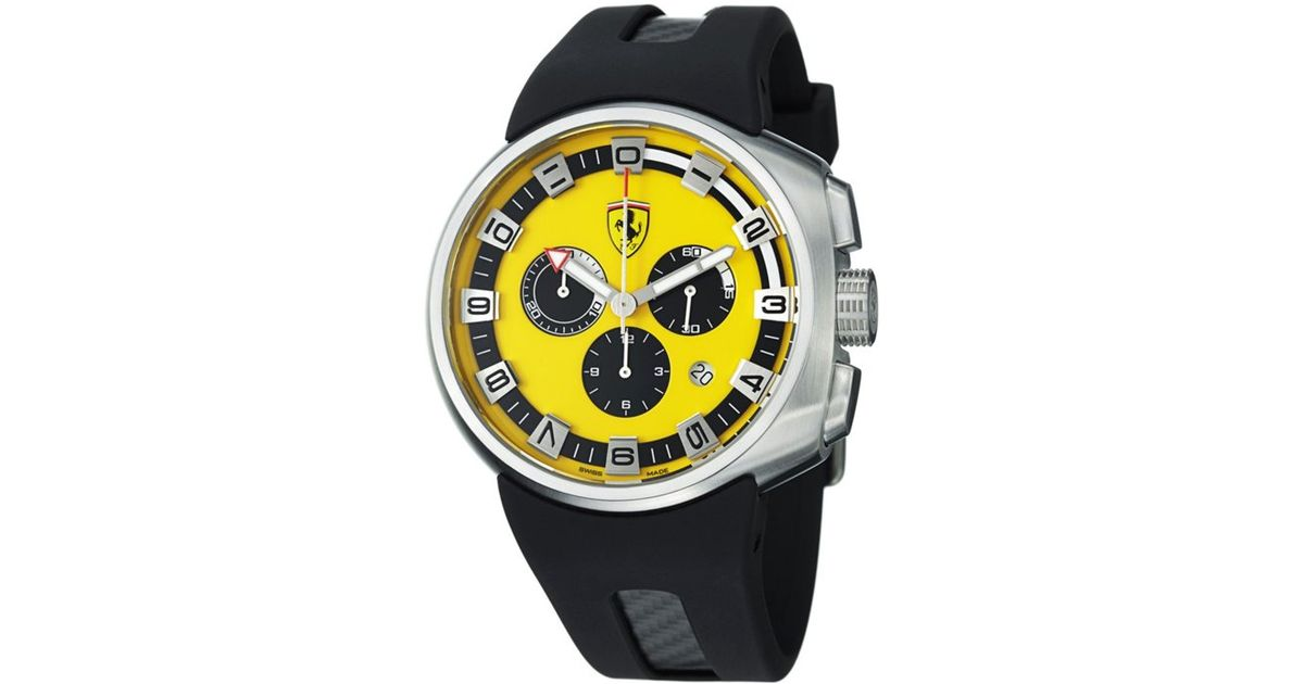 yellow product in ferrari watch en unisexgroesse unisex ferrar size armbanduhr wrist scuderia image