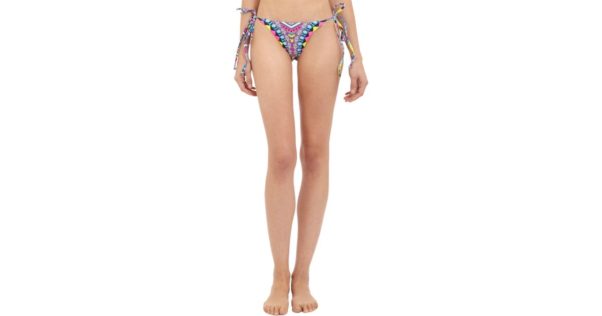 e380203864 Mara Hoffman Geometric pattern String Bikini Bottom in Pink - Lyst