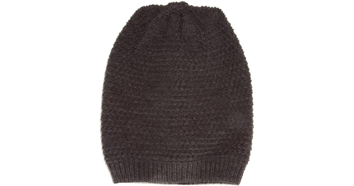 d75c1108b9809 Lyst - ASOS Slouchy Beanie Hat in Textured Stitch in Gray for Men