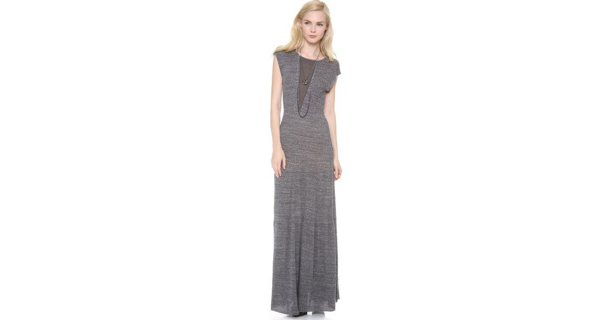 Nightcap caletto maxi dress white long sleeve