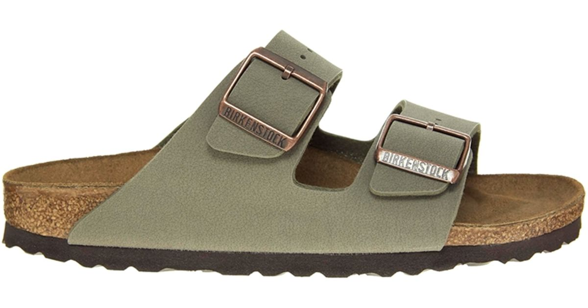 2f1055bfa Lyst - Birkenstock Arizona Stone Two Strap Sandals in Gray