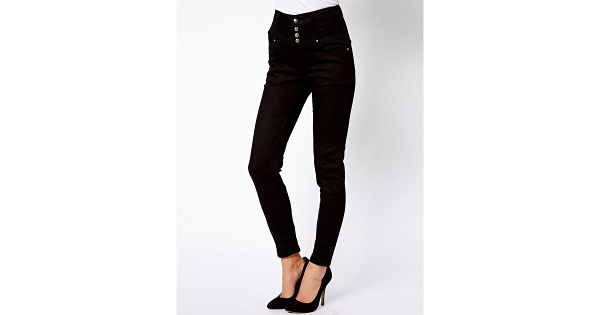 Lyst - ASOS New Look Super Soft High Waist Skinny Jean in Black 0061bcc14