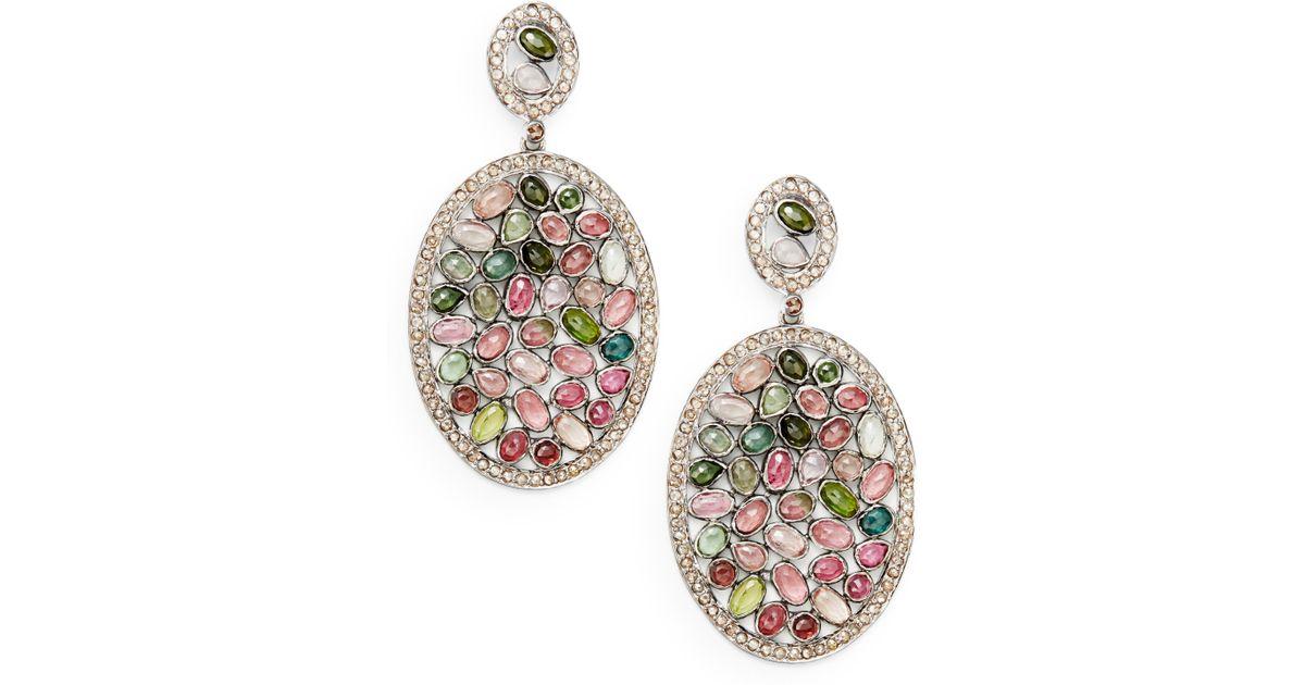 Bavna Diamond Pavé Leaf Drop Earrings MyQrRYPOnT