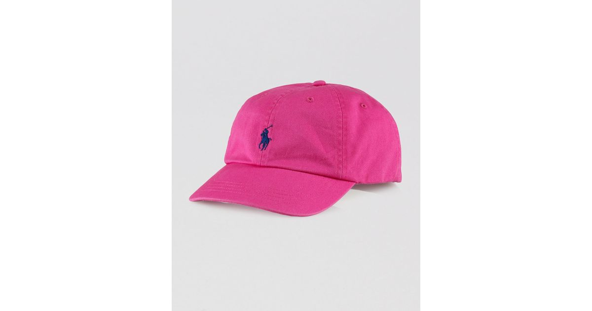 a5f4507a959 Lyst Ralph Lauren Polo Clic Chino Sports Cap In Pink For Men