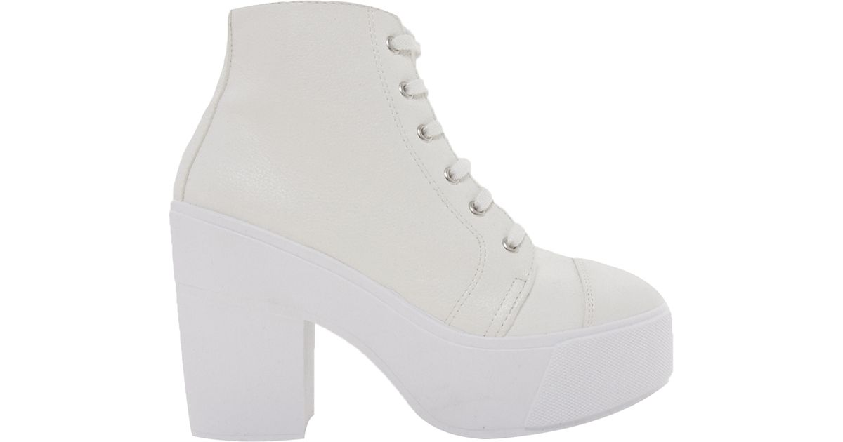 Lyst - ASOS All Good Things Lace Up Ankle Boots in White c60b49ff9
