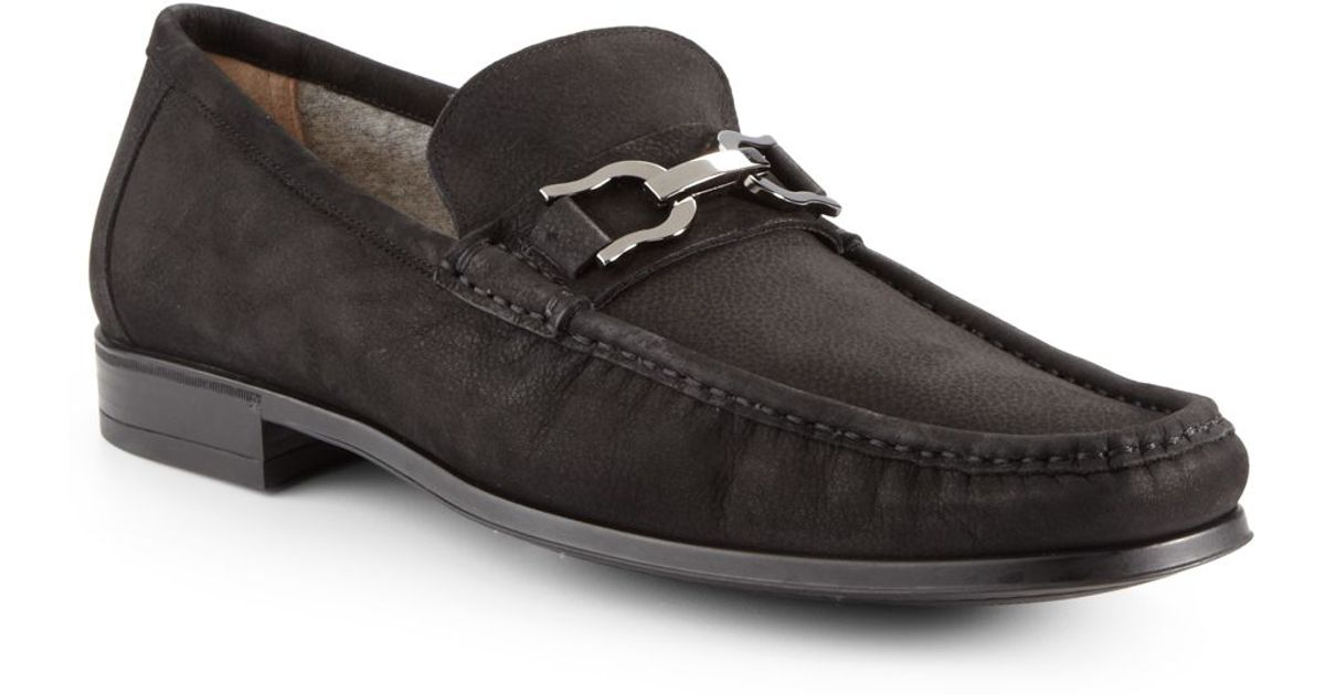 a96fe12f66d Lyst - Bruno Magli Mikko Suede Bit Loafers in Black for Men