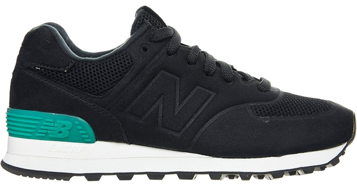 new balance 574 sonic black trainers